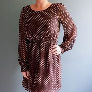 Forever 21 brown and white polkadot dress/tunic